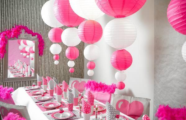 Lampions Pink 20cm Durchmesser Laterne 2 Stück