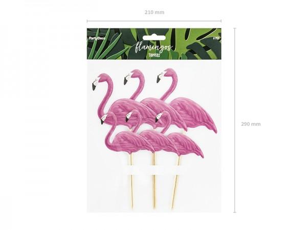 Flamingo Picker Picks Hula Halwaii Beachparty Tischdeko 6 Stück