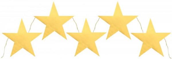 Girlande Wimpelkette Banner goldene Sterne