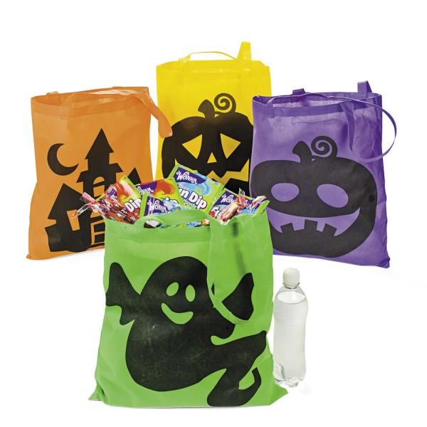 Halloween Sammelbeutel bunt Taschen Beutel 12 Stück
