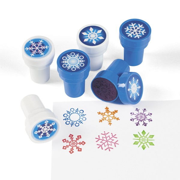 Kinderstempel Schneekristall Eiskristall mit 6 verschiedenen Motiven