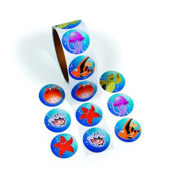 Lustige Meerestiere Aufkleber Sticker 100 Stück