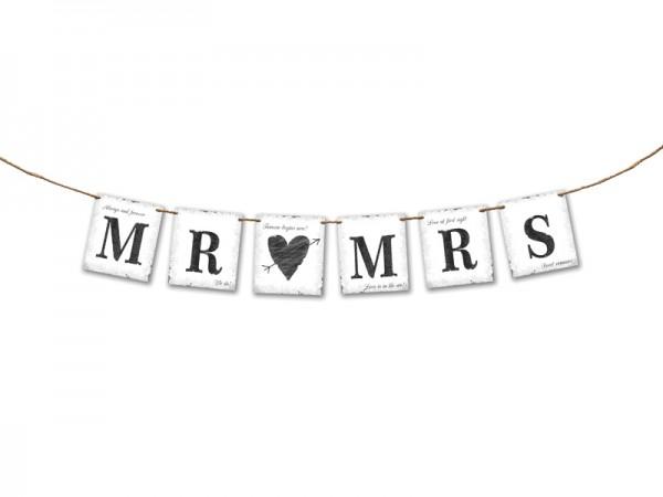 Mr. and Mrs. Brautpaar Raumdeko Hochzeits-Girlande