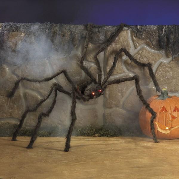 Riesige behaarte Spinne mit LED-Augen und flexiblen Beinen