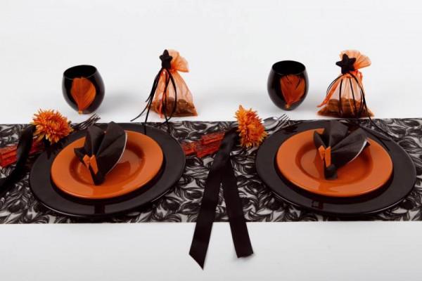 Organzabeutel Organzasäckchen schwarz 12cm x 17cm für Hochzeitsmandeln und Gastgeschenke 6 Stück