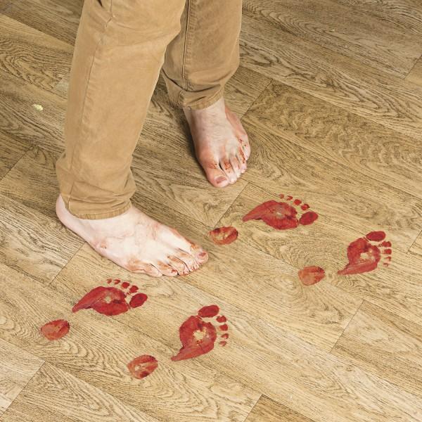 Halloween blutige Horror Fußspuren Fußabdrücke Aufkleber 16 Stück