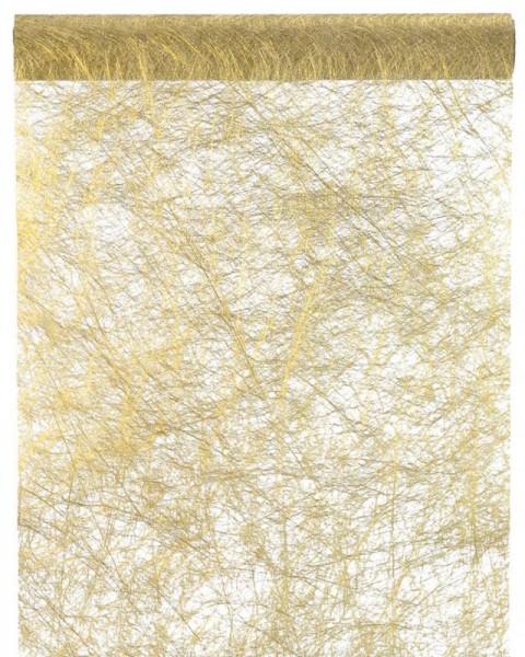 Tischläufer gold strukturiert Vlies 5 Meter Rolle