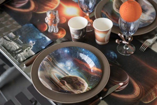 Weltraum Space Partyset Tischdekoration mit 41 Teilen