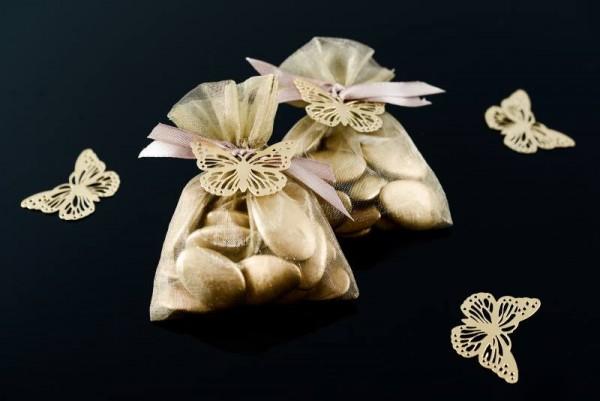 Organzabeutel Organzasäckchen türkis 7,5cm x 10cm für Hochzeitsmandeln und Gastgeschenke 10 Stück