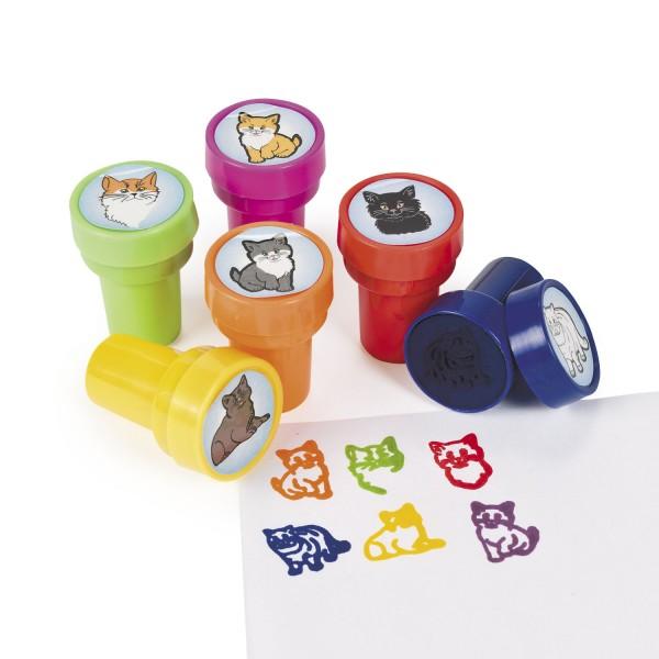 Kinderstempel Katzen Katzenbaby in 6 verschiedenen Designs