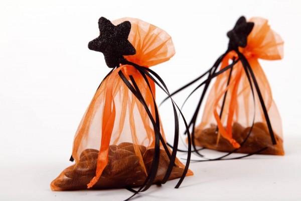 Organzabeutel Organzasäckchen orange 12cm x 17cm für Hochzeitsmandeln und Gastgeschenke 6 Stück