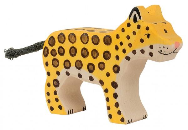 Leopard klein Safari Holzfigur Holzspielzeug von Holztiger