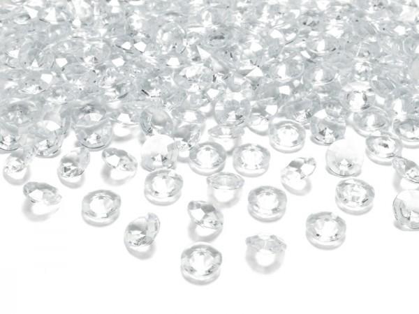 Dekosteine Diamanten transparent klar 100 Stück 12mm Durchmesser