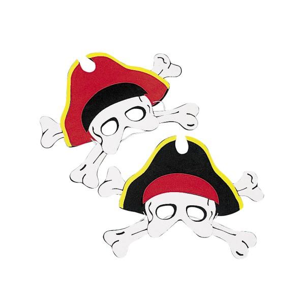 Piraten Maske aus Schaumstoff Halbmaske 12 Stück