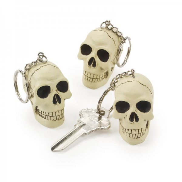 Halloween Piraten Totenkopf Schlüsselanhänger aus Resin 1 Stück