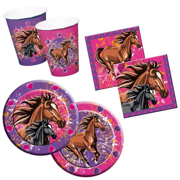 Pferde Party-Set A Tischdeko 36-teilig Kindergeburtstag Mottoparty