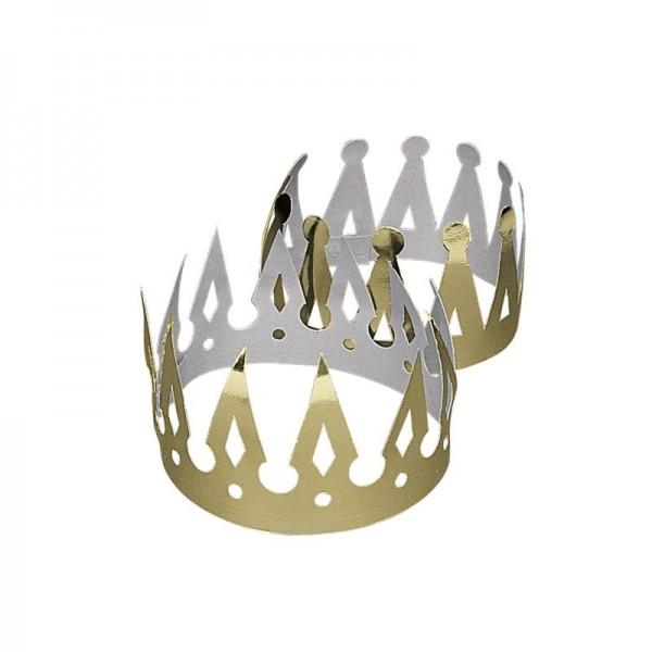 Krone für König Prinz Prinzessin 12 Stück