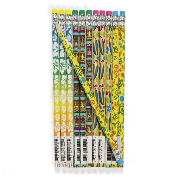 Hula Hawaii Bleistift mit Radiergummi als Mitgebsel 12 Stück