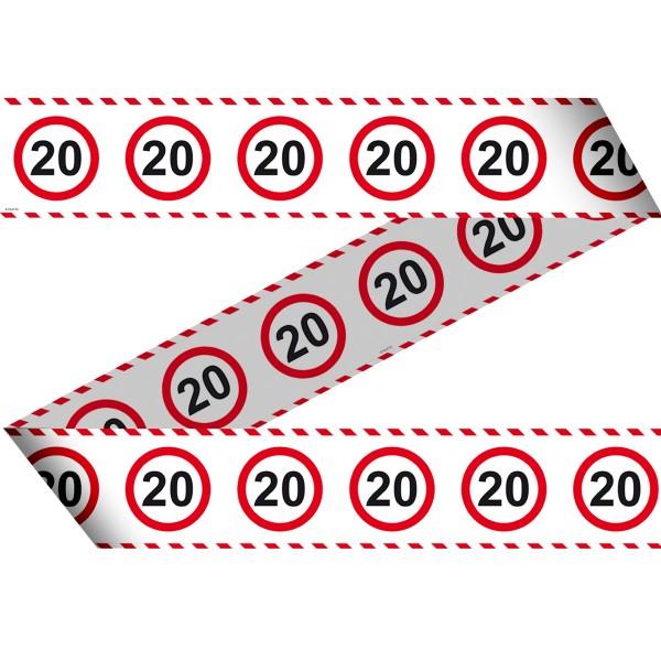 Absperrband für den 20 Geburtstag 15m lang