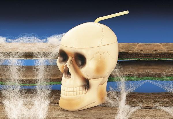 Totenkopf Halloween Piratenparty Trinkbecher 12 Stück