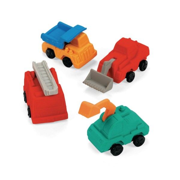 Radiergummis Bagger LKW Baufahrzeuge 12 Stück