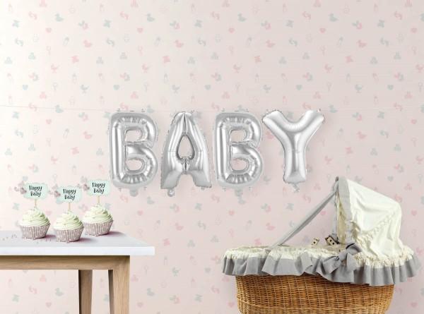 Ballon-Set Baby Folienballon Babyparty Babyshower