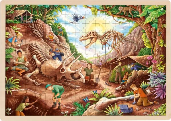 Einlegepuzzle Dinosaurier Ausgrabung 192 Teile von goki