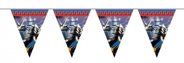 Ritterparty schwarzer Ritter Wimpelkette
