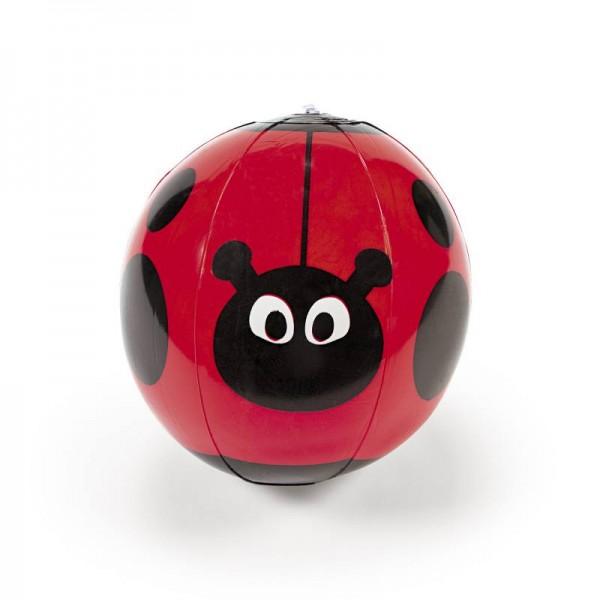 Wasserball als Marienkäfer