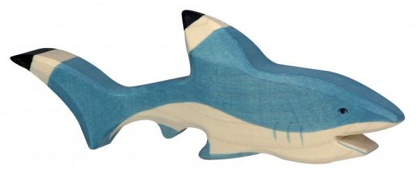 Hai Meerestiere Holzfigur Holzspielzeug von Holztiger