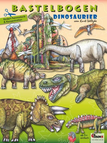 Bastelbogen Dinosaurier Dino bespielbares Model