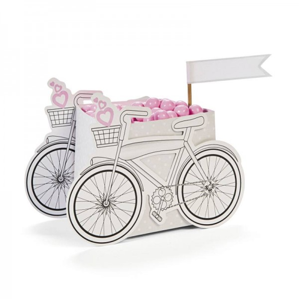 Candybox im Fahrrad-Design aus Pappe 12 Stück