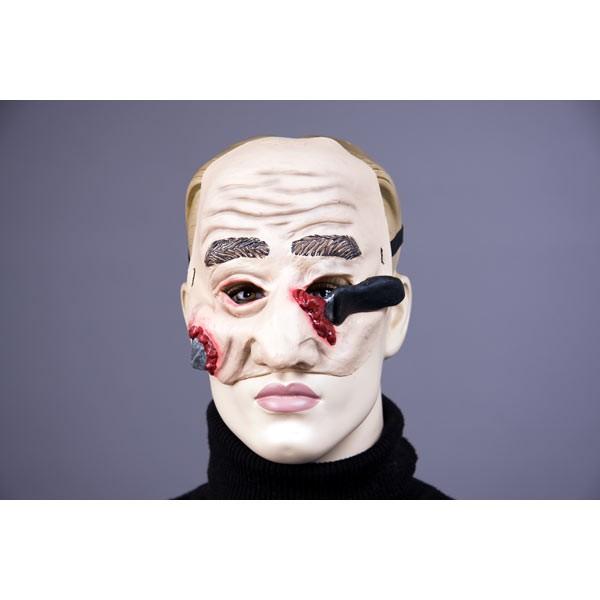 Halloween Maske mit durchbohrtem Gesicht