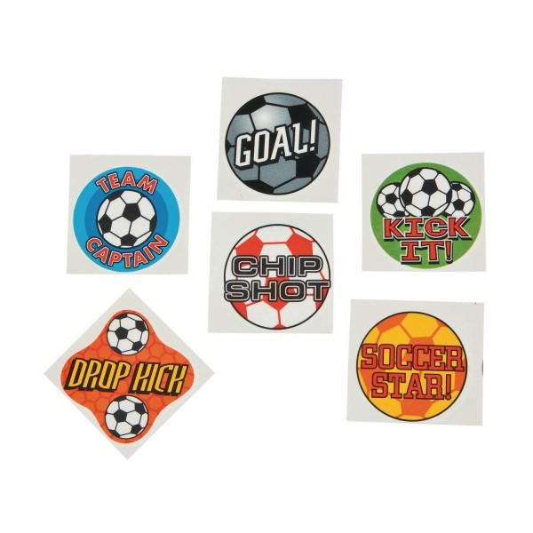 Kinder Tattoo Fußball 36 Stück in 6 verschiedenen Motiven
