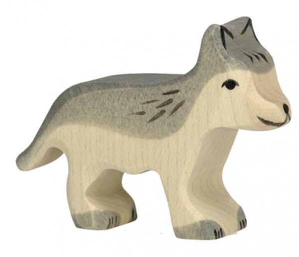 Wolf klein Holzfigur Holzspielzeug Waldtier von Holztiger