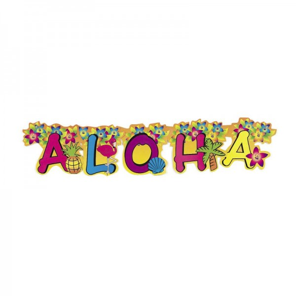 Party Girlande Aloha mit Flamingo