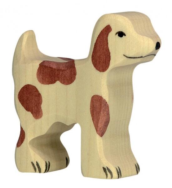Hofhund Hund klein Bauernhof Holzfigur Holzspielzeug von Holztiger