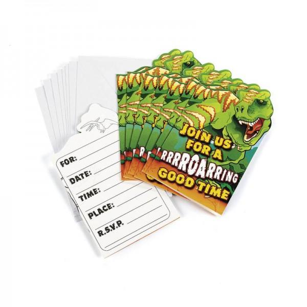 Dinosaurier Einladungskarten Dino Mottoparty 8 Stück