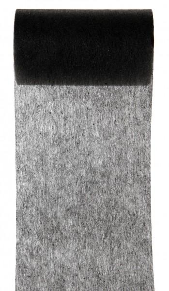 Tischband schwarz Vlies 10cm x 10m