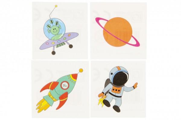 Weltraum Space Kinder-Tattoos 36 Stück