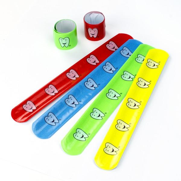Lustige Zahn Zähnchen Schnapp-Armbänder 6 Stück