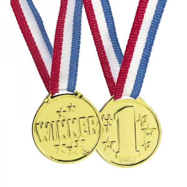 Siegermedaille Winner 1. Platz Goldmedaille Kunstoff 12 Stück