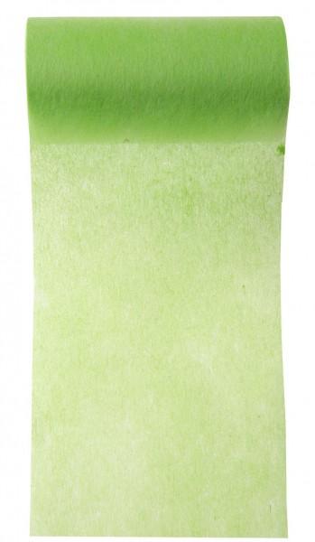 Tischband apfelgrün grün Vlies 10cm x 10m