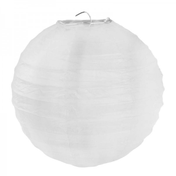 Lampions Weiß 30cm Durchmesser Laterne 2 Stück