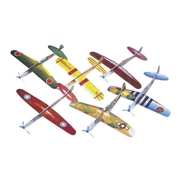 Styroporflieger Gleiter Kampfflugzeuge 48 Stück