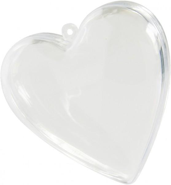 Herz transparent ca. 8cm zum befüllen für Hochzeit 100 Stück