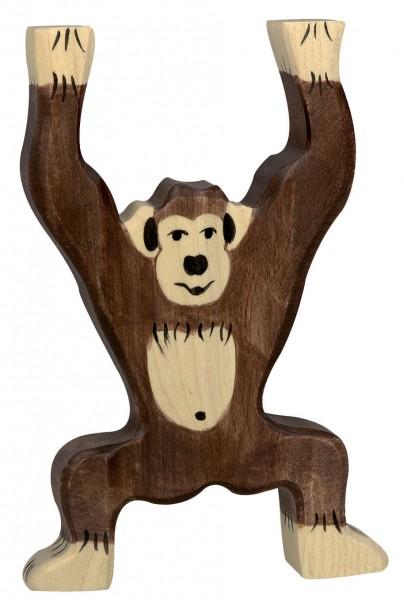 Schimpanse stehend Safari Holzfigur Holzspielzeug von Holztiger