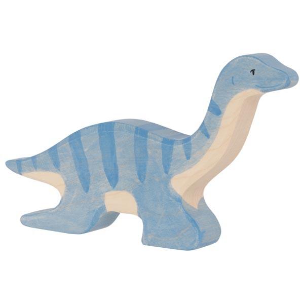 Holztiger Plesiosaurus Dinosaurier Holzfigur