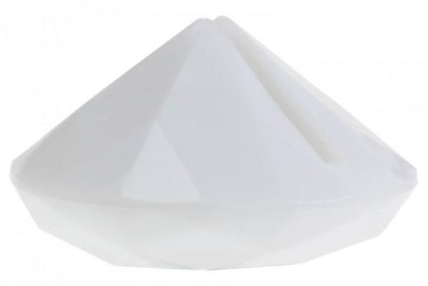 Tischkartenhalter Diamant Weiß für Namensschild 4 Stück