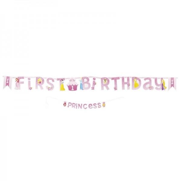 """Buchstabengirlande """"First Birthday"""" Banner 1. Geburtstag"""
